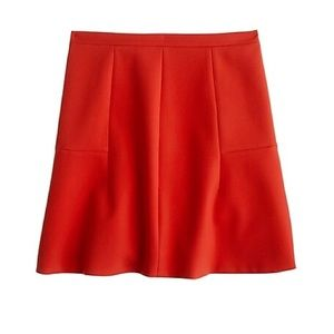 [J. Crew] Fluted Skirt in Double Crepe